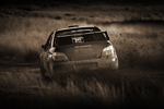 WRC Subaru kicking up dirt